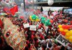 Marcha en apoyo a Dilma y Lula