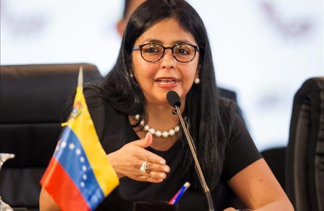 Delcy Rodrigue Canciller de Venezuela
