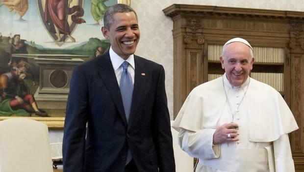 Barack Obama y Papa Francisco