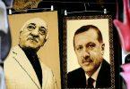 Retratos de Gulen y Erdogan