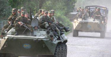 Los cascos azules rusos en Georgia