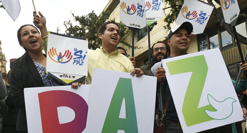 Manifestacion pacifica en Colombia