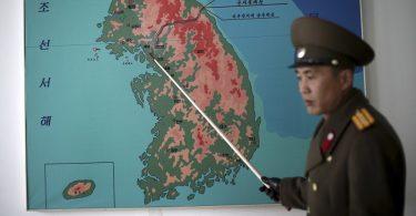 Mapa de la peninsula de Corea