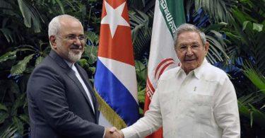 Mohammad Javad Zari y Raul Castro