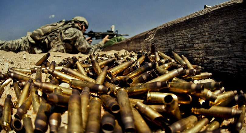 Soldados de los Estados Unidos entrenando