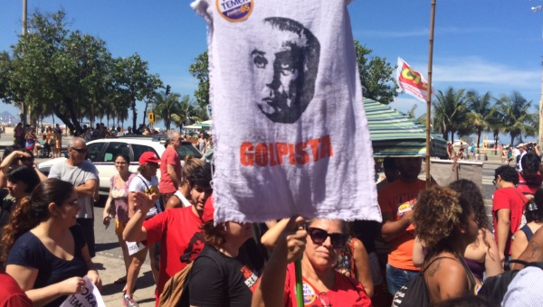 Manifestacion contra Temer en Brasil
